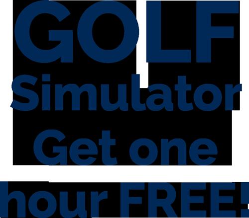 GOLF Simulator  Get one hour FREE!